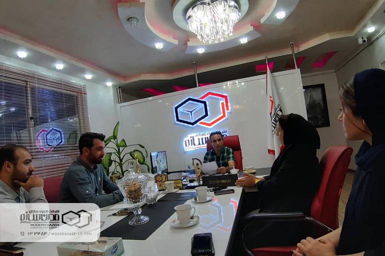 نشست هیات والیبال کیاشهر با شرکت مدرن سازه در خصوص مسابقات لیگ برتر