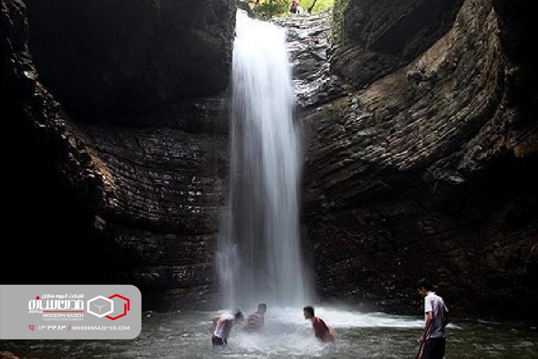 آبشار ویسادار سومین آبشار بلند در گیلان