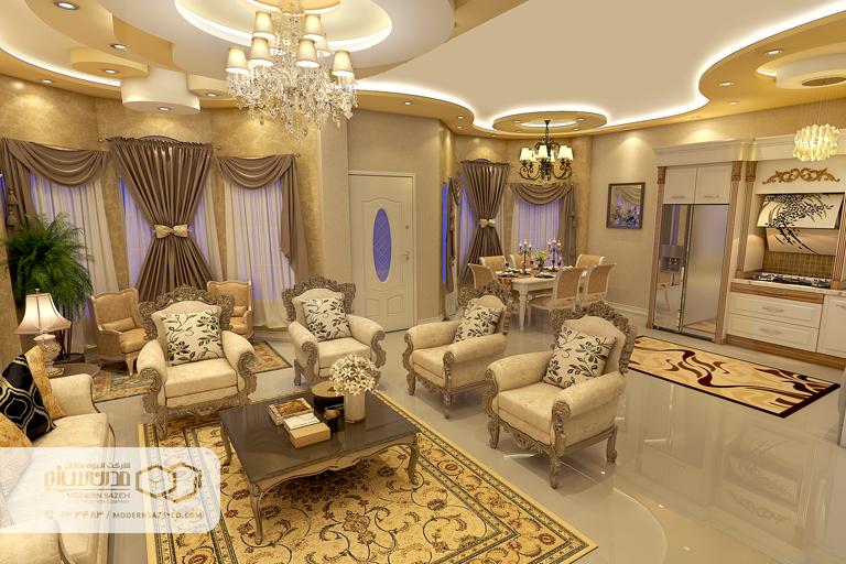 دیزاین داخلی ویلا به سبک کلاسیک در معماری