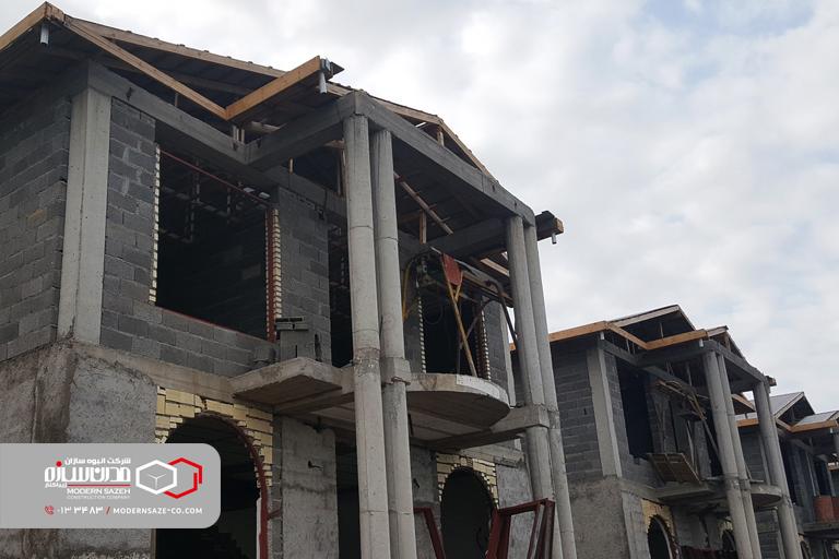 انواع سازه های ساختمانی در ساخت و ساز ویلا در شمال