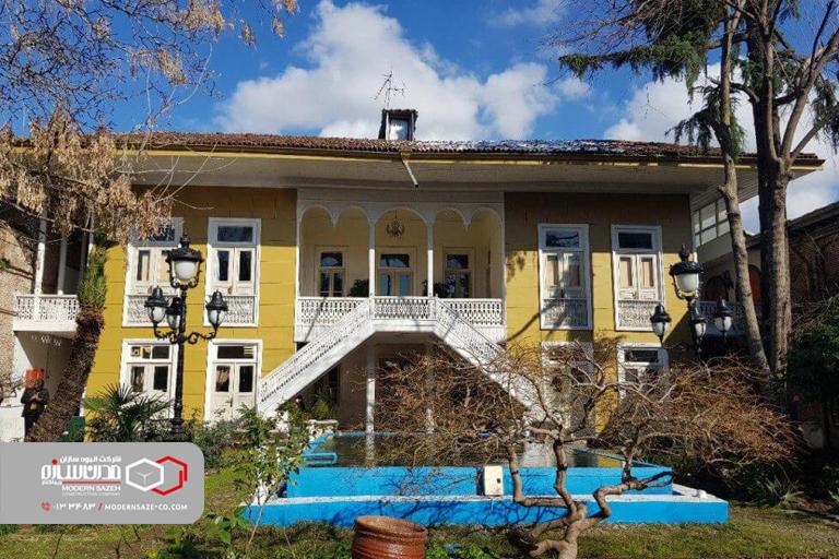 خانه ابریشمی رشت بنای تاریخی عصر قاجار